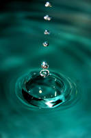 Water droplets by Xephiron