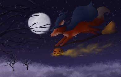 Foxy witch by dragnilu