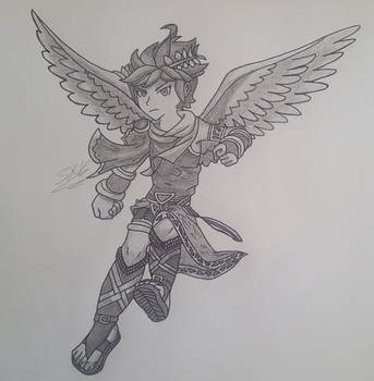 Dark Pit Drawing By Saulx2016 On Deviantart