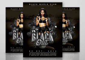 Black Out Party In Whole Black Club by n2n44studio