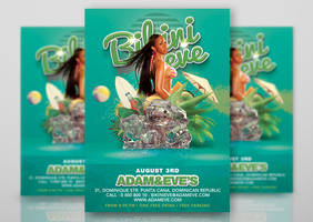 Summer Party Flyer Bikini Eve by n2n44studio