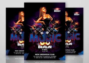 Ultra Modern Techno Music Party In Club by n2n44studio