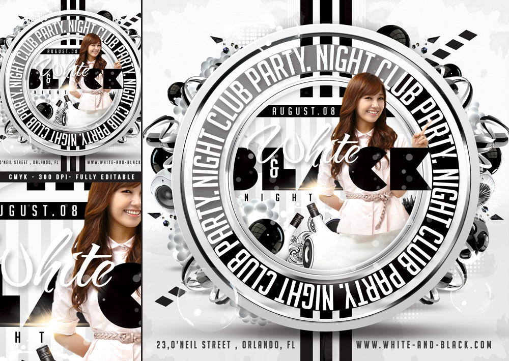 Squared White Party Flyer by n2n44studio