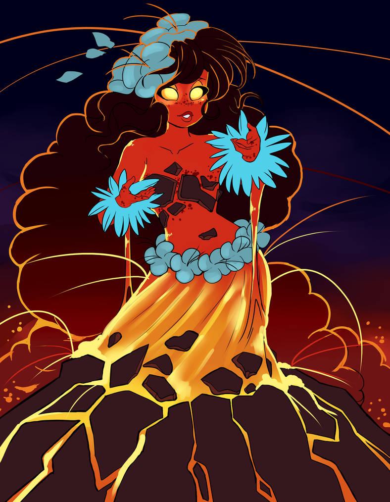 Pele: Volcano goddess by QueenAshi