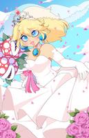 Nintendo: Wedding Peach by QueenAshi