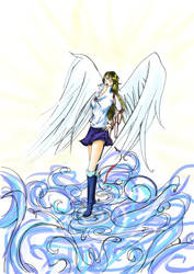 angel and wind by Arcedemius by dahlys