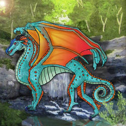 Glory: The Rainwing From The Dragonet Prophecy by dahlys