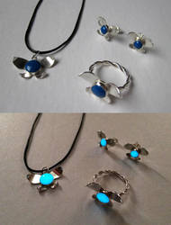 Hey Listen! Sterling and Glow Resing Navi Jewelry by kenshin1387