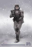PLA soldier by MarkTarrisse