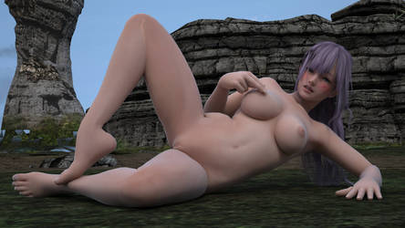 Fiona xl3 NMNPP lying breast stroker side.RGB colo by that-damn-Hitomi-guy