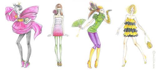 Pencil Girls 3 by lanitta