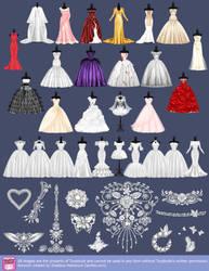 Dresses for the Wedding Street by lanitta