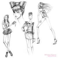 Fashion girls sketches 2011-01 by lanitta