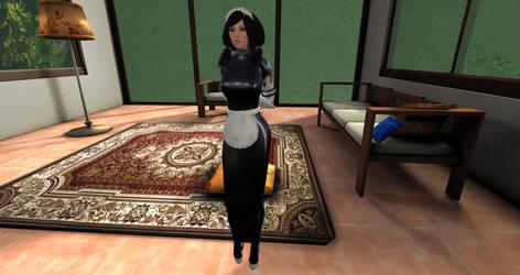 Latex hobble maid uniform by Midzi90