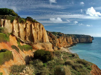 along cliffs by photo-earth