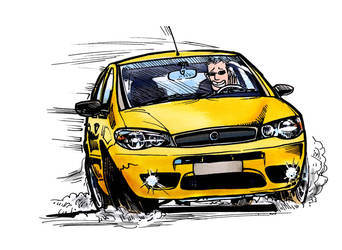 FIAT Palio 1.8R, drift, color by CRCavazos
