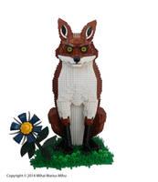The Fox and the Flower by MihaiMariusMihu