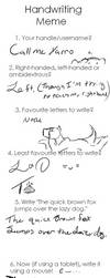 Handwriting meme redo by FroFro567