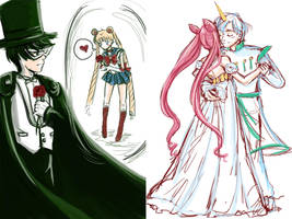 Sailor Moon Doodles by Delight046