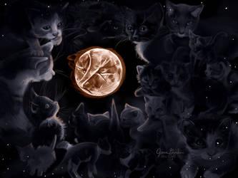 Full Moon Cat by Delight046