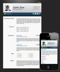 Wordpress Resume by leslyg