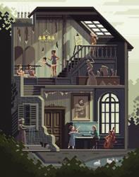 Scene #32: 'The Art School' by octavinavarro