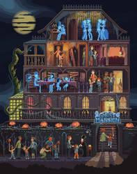 Scene #43: 'Ghost Mansion' by octavinavarro