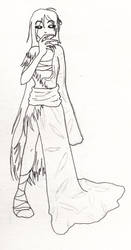 Blood Witch Kiyoshi (uncolored) by emeraldrae