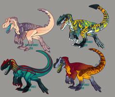 Tyrannosaurid Adopts (CLOSED) by Avian-king