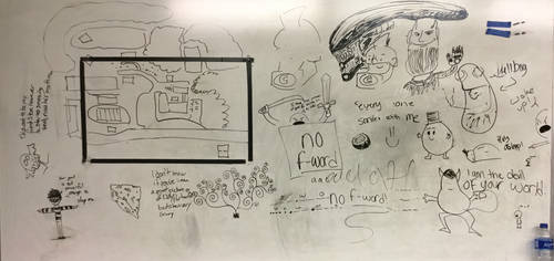One Acts Rehearsal Whiteboard 2/6 by LasagnaTheTrashcan