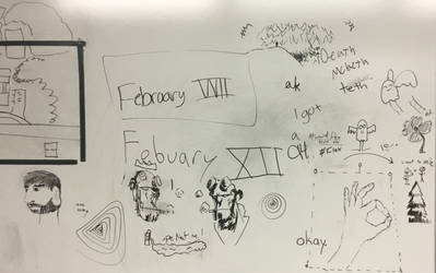 One Acts Rehearsal Whiteboard 2/12 by LasagnaTheTrashcan