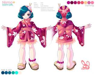 Sushi Girl Character Sheet by bw-inc
