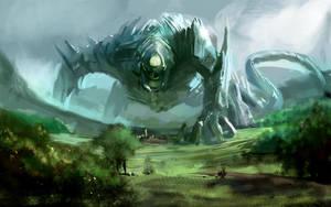 Giant bot thing by Herckeim