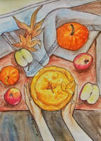 Baking An Apple Pie in Autumn by saoumitaag