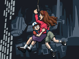 Gravity Falls - Grappling Hook! by DeathbyChiasmus