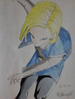 Android 18 by AaragonNega
