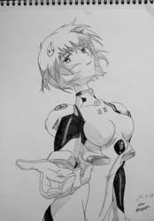 Rei Ayanami Sketch (8) by AaragonNega