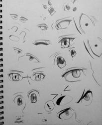 Anime Eye Reference Doodles! by AaragonNega