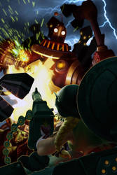 WAR WORLD SGT. HAMMER VS GAZLOWE by rhoogers