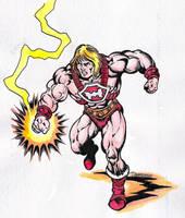 Thunder Punch He-man by danbrenus