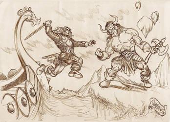 Bryan vs the ogre champion by danbrenus