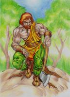 Esus god of forests by danbrenus