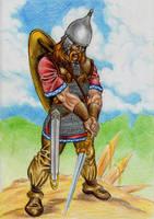 Teutates god of warriors by danbrenus