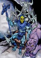 Skeletor's throne by danbrenus