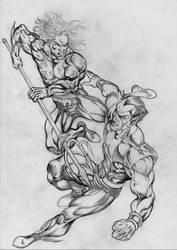 Aquaman vs Sub Mariner by danbrenus