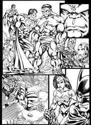 #inktober 2018: Superman vs Hulk page 1 by danbrenus