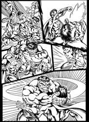 #inktober 2018: Superman vs Hulk page 2 by danbrenus