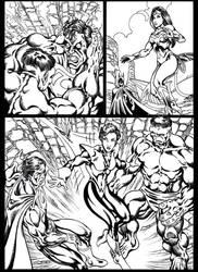 #inktober 2018: Superman vs Hulk page 3 by danbrenus