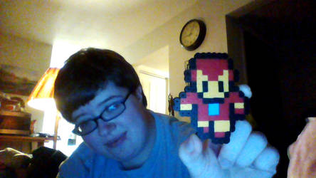 Ironman Made Out Of Perler Beads by HerHeartCrafts