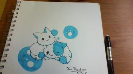 Two Kitties by HerHeartCrafts